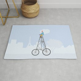 The World's Tallest Bicycle The Eiffel Tower Bike Rug