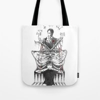 hannibal Tote Bags featuring Hannibal by Lunzury