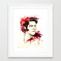 stiles stilinski Framed Art Prints featuring Stiles Stilinski  by Sterekism