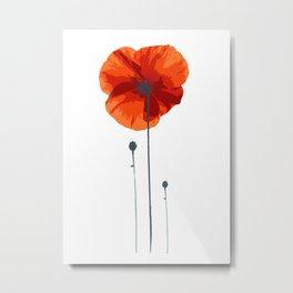 Poppy poppy poppy Metal Print
