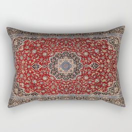 N63 - Red Heritage Oriental Traditional Moroccan Style Artwork Rectangular Pillow