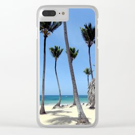 Paradise Island Clear iPhone Case