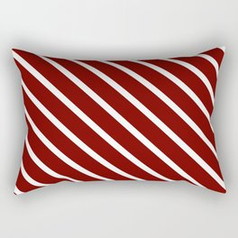 Red Velvet Diagonal Stripes Rectangular Pillow