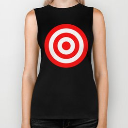 Bullseye Target Red & White Shooting Rings Biker Tank