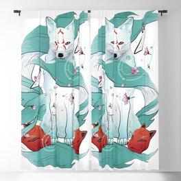 Frozen Kitsune Blackout Curtain