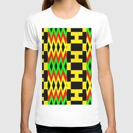 African Kente Cloth Fabric Pattern T-shirt