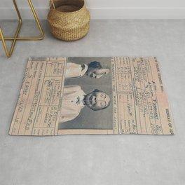 The Great Lester Detroit Arrest Record vaudeville humorous black and white photograph Rug