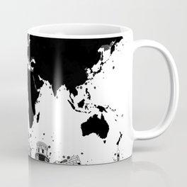 world map city skyline 4 Coffee Mug