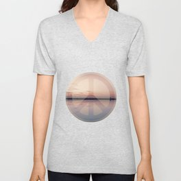 Calm Waters And Peace Unisex V-Neck