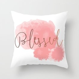 Blessed #society6 #decor #buyart Throw Pillow