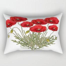 Flanders Red Poppy Rectangular Pillow