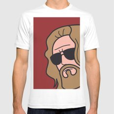 Pop Icon - The Dude White Mens Fitted Tee MEDIUM