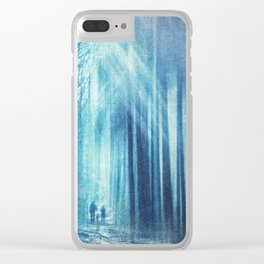 cold forest of light Clear iPhone Case