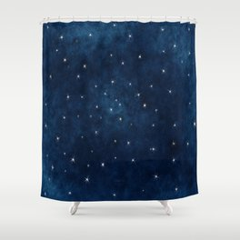 Whispers in the Galaxy Shower Curtain