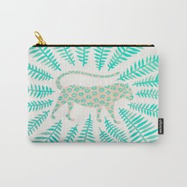 Jaguar – Turquoise & Mint Palette Carry-All Pouch