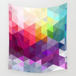 Pixel Prism Wall Tapestry