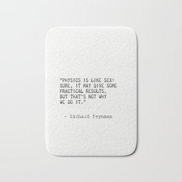 Richard Feynman quote Bath Mat
