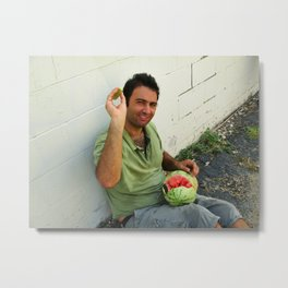 Vladimir Karabegov Will Throw Watermelon Rind At You Metal Print