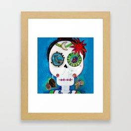Maite´s skull Framed Art Print