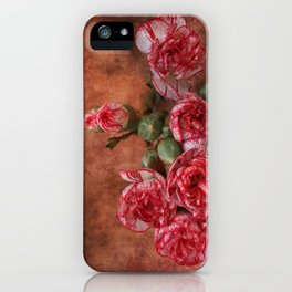 Carnation flowers iPhone Case