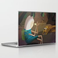 jake Laptop & iPad Skins featuring Finn & Jake by modHero