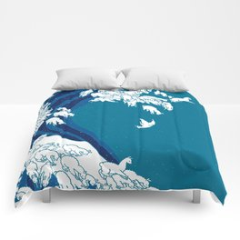 Waves Llama Comforters