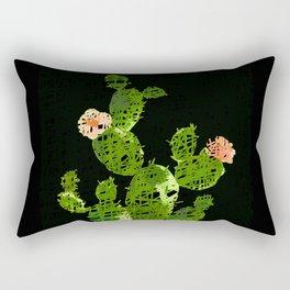 weird cactus black version Rectangular Pillow