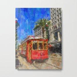 New Orleans Trolley Bus Metal Print