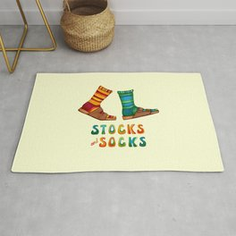 Stocks And Socks with Groovy Lettering Rug