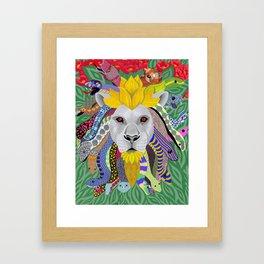 Medusa Lion(ess) Framed Art Print