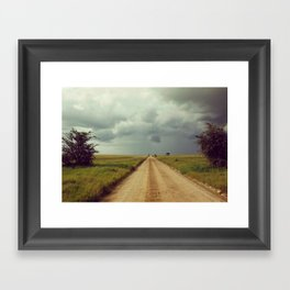 Storm Rolls into the Serengeti Framed Art Print