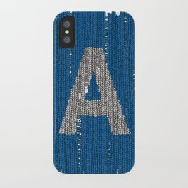 Winter clothes. Letter A. iPhone Case