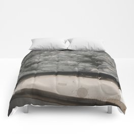 Metal and clouds Comforters
