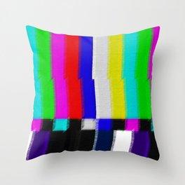 TV Screen Color Bars Throw Pillow