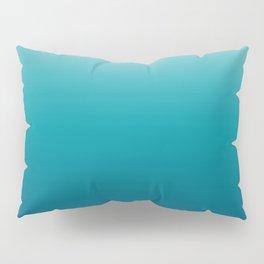 Pastel deep blue navy gray duotone sea ocean water gradient ombre summer stylish color pure soft lig Pillow Sham