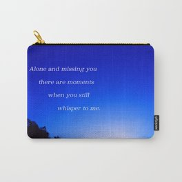 """Flickering Sunset"" with poem: There Are Moments Carry-All Pouch"