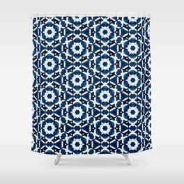 Shibori Watercolour no.4 Shower Curtain