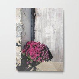 Doorstep Bouquet Metal Print