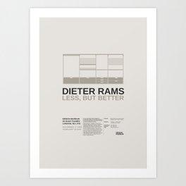 Less but Better Art Print