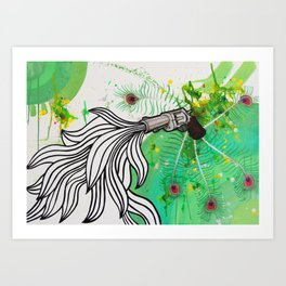 Beauty and the Death Machine Art Print