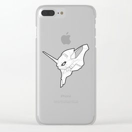 Eva Unit 01 - Skeletal Black and White Clear iPhone Case