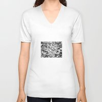 florence V-neck T-shirts featuring Florence by frankWAYNE