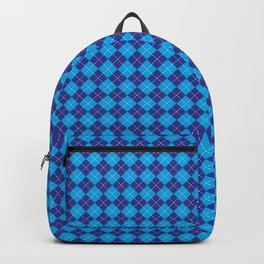 Argyle Pattern | Shades of Blue Backpack