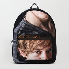 Fashion Illustration Portrait Man Backpack