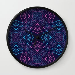 VISION / part two / neon Wall Clock