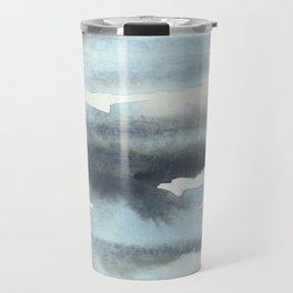 Cloud Cover Watercolor Minimalist Travel Mug