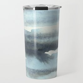 Cloud Cover Watercolor Minimalist Travel Mug