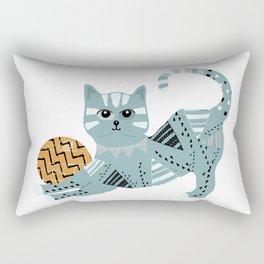 Tattoo Cat With Ball Rectangular Pillow