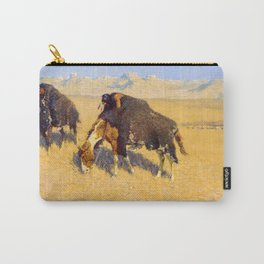 Frederic Remington - Indians Simulating Buffalo, 1908 Carry-All Pouch