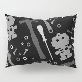 Techie Tools - black and grey Pillow Sham
